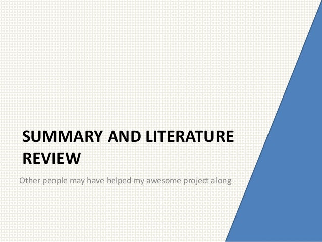 How to write an article summary