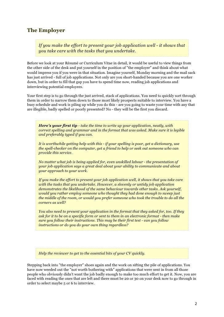 Sample of Resume Writing Dailymotion
