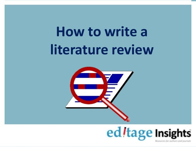 how to write literature reiview