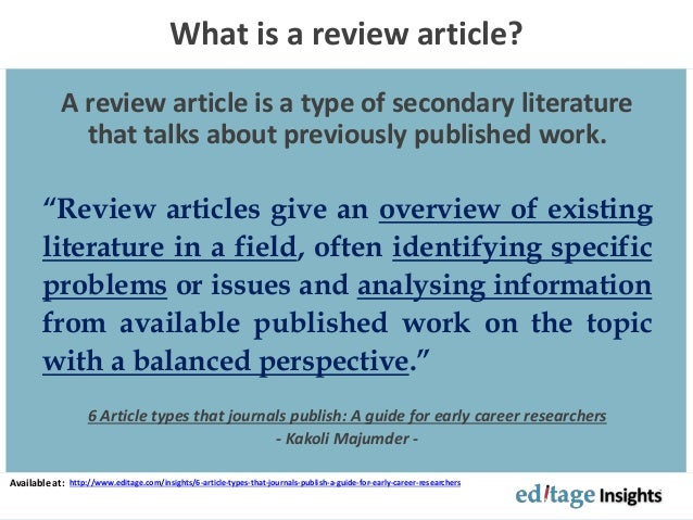 Literature review - Wikipedia, the free encyclopedia
