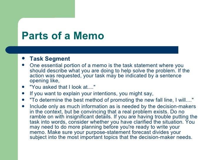 Problem Solving Memo
