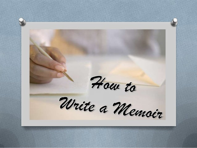 How to Write a Memoir NVEmIolX