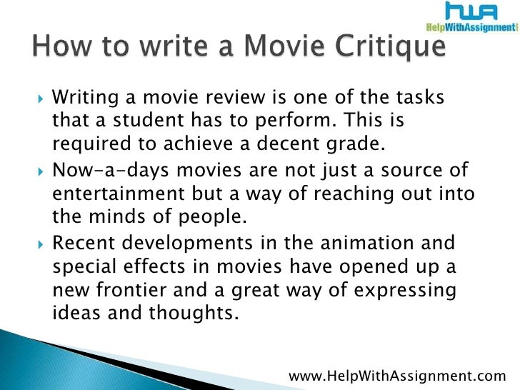 How To Write An Art Critique Essay