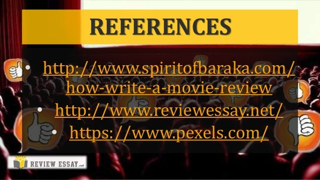 how to write a review movie