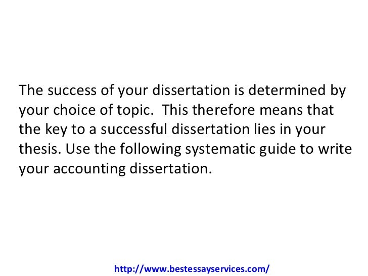 Dissertation Abstract Accounting