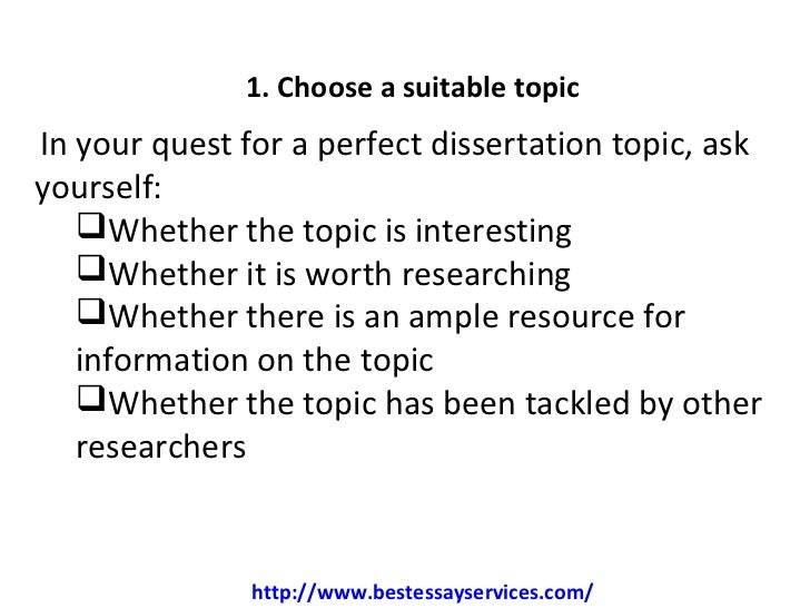 Dissertation summary of findings