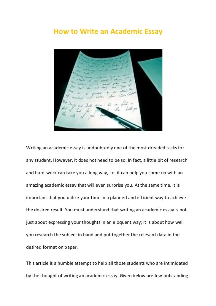 Ways of writing an academic essay