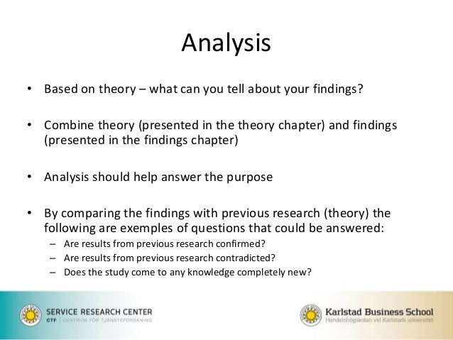 How to write theory