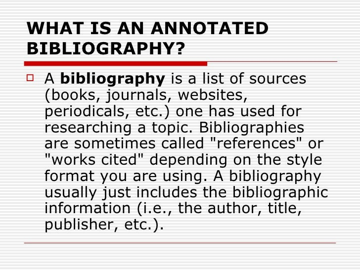 how to write an annotated bibliography with two authors
