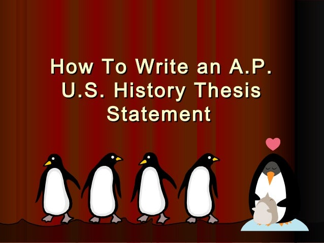 U.S. History thesis help?