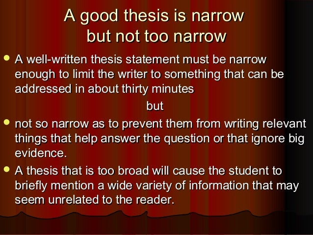 how to write a good thesis for a dbq essay Step 2: read the task and write your thesis this step is one of the most important in writing a dbq your thesis is the last sentence of your introduction, and it is the most important sentence in the entire essay.