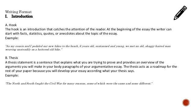 Introduction paragraph argumentative essay teplate