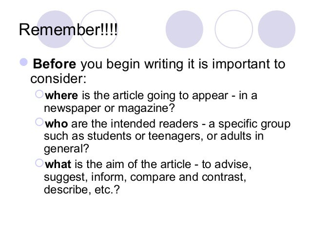 What is an article?