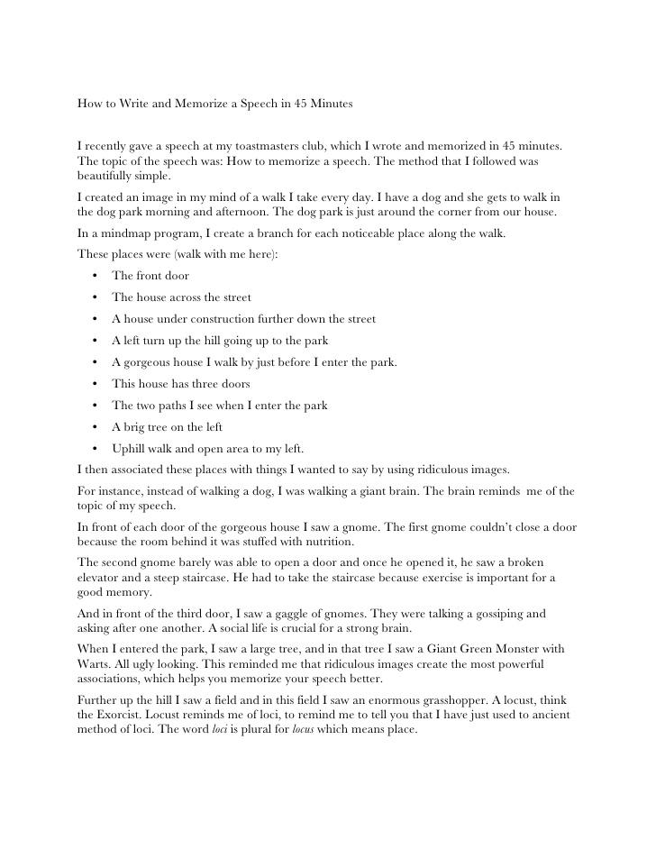 how to write a speech writing