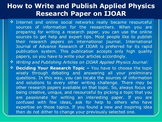 publish a research paper online The non-profit peer-reviewed open access international journal of life sciences and technology (ijlst)  improve the approaches of life sciences research,.