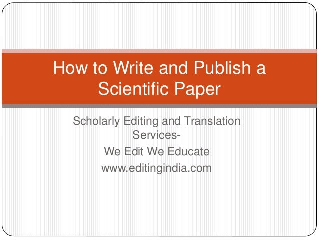 Scientific paper writing services