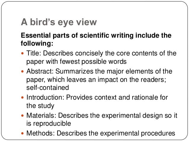 how to write a science essay Writing a scientific essay  purpose  structure  writing in the sciences  writing and speaking guidelines for engineering & science  .