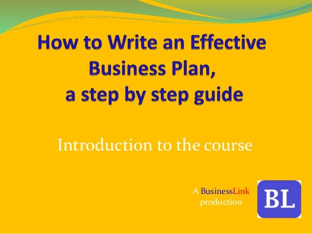 Steps To Write A Business Plan