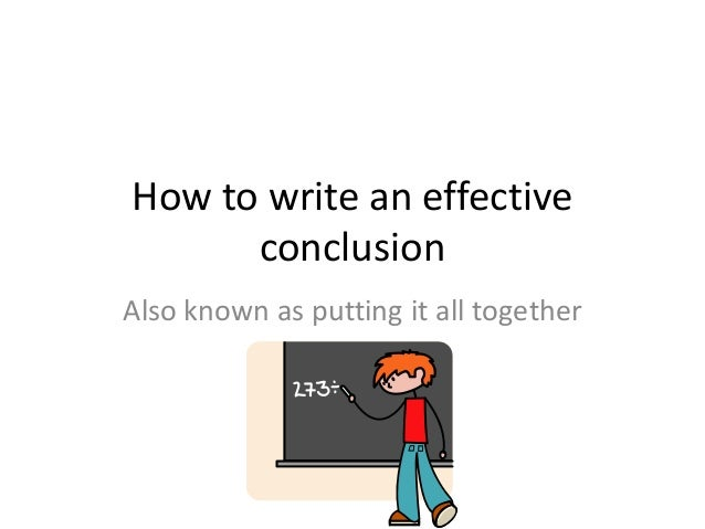 What is a conclusion?