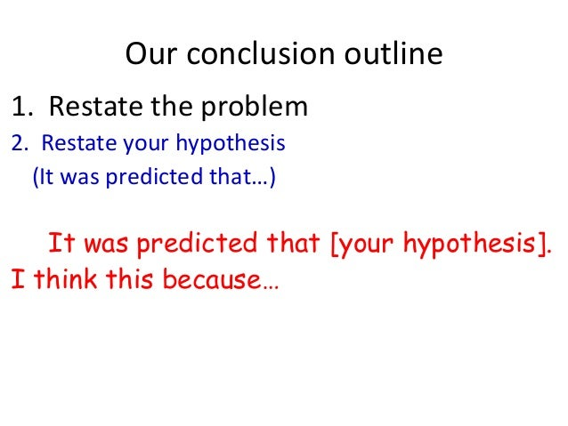 How to write an effective conclusion ?