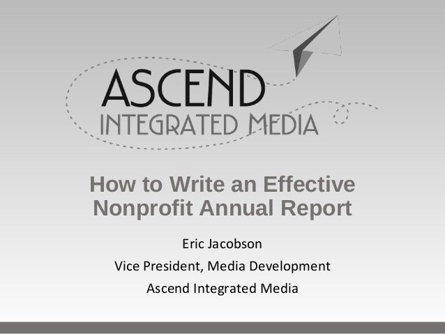 How to write an agm report