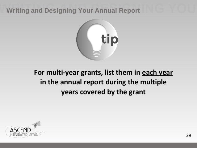 how to write an annual report An annual report is a year-end summary of a company's financial status if you run a private company, you don't have to complete an annual report however, if your.