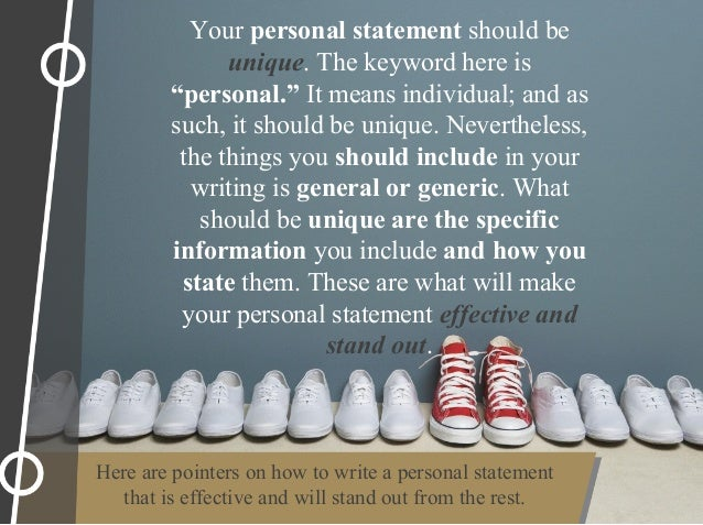 How to write an effective personal statement