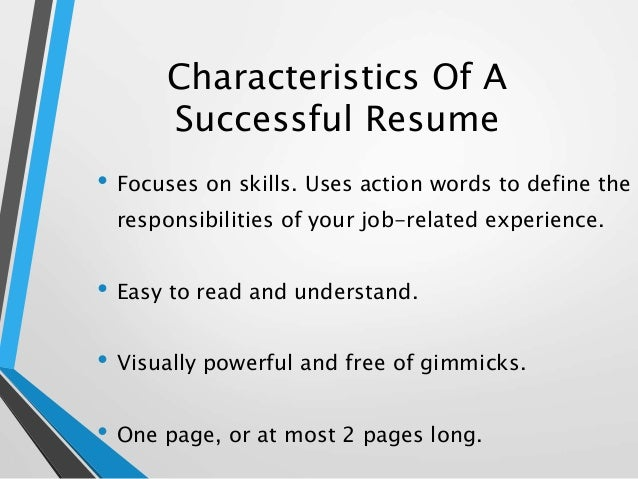 How to write a strong resume