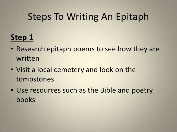 How to write an im poem