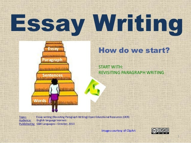 Essay WritingEssayHow do we start?ParagraphSentencesSTART WITH ...