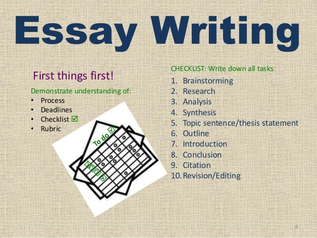 Things To Write An Essay On