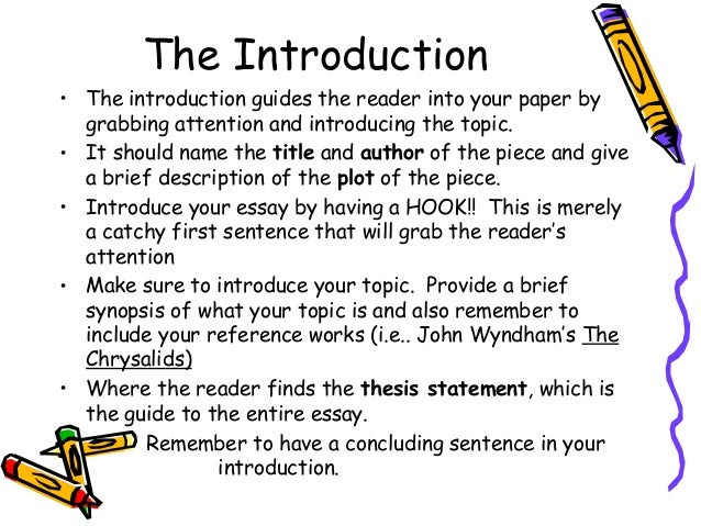 introduction essays start Writing introductions -- help writing admissions essays the introduction is the first sentence of your essay and it plays the dual role of setting the theme of your essay and engaging the.