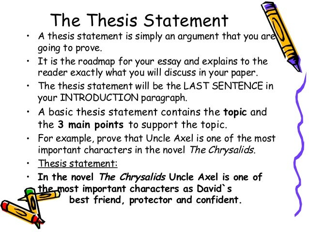 How do you write a thesis statement in a essay?