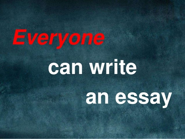 I was told write an Essay?