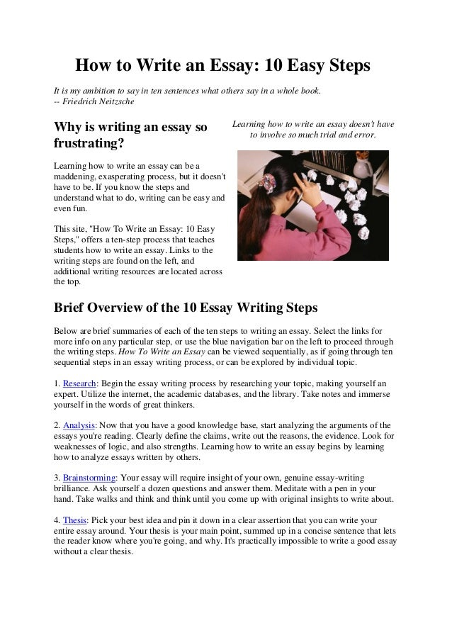 How to write an essay step by step