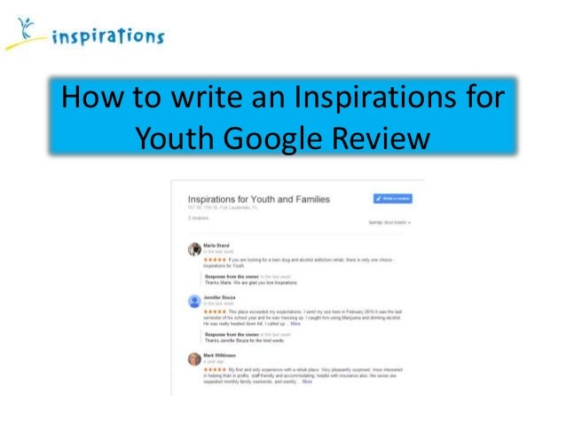 How to write an Inspirations for Youth Google Review