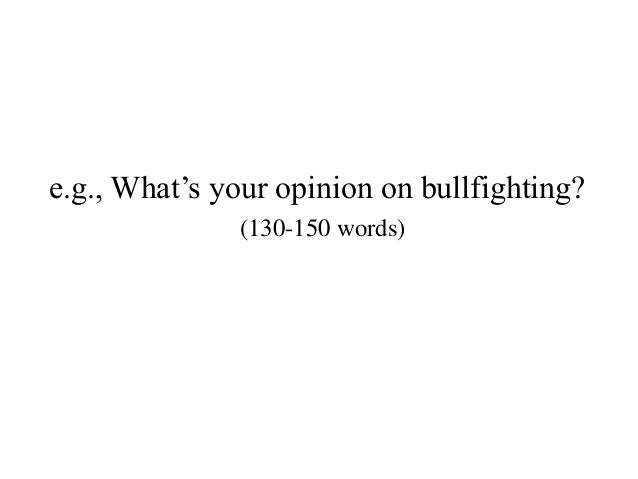Write your opinion