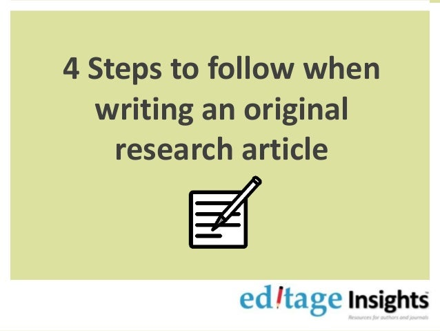 how to find original research articles