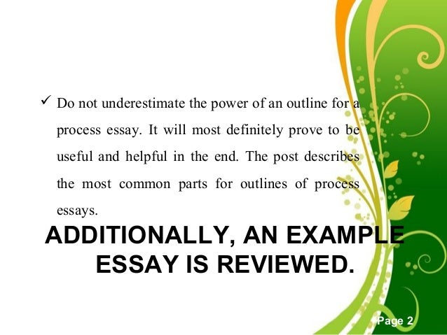 How to start a process essay