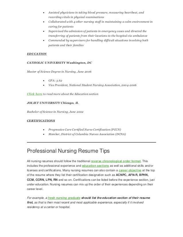 how to write a nursing rn resume