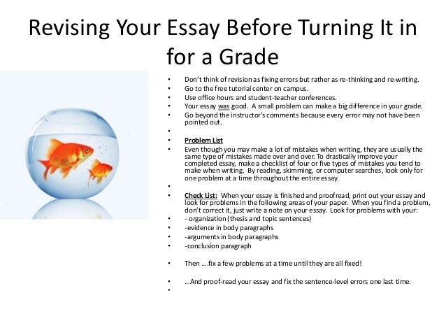 college application essay revision