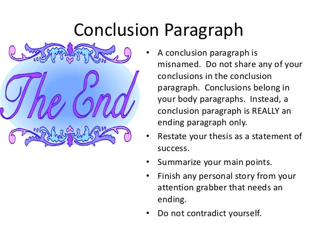 how to write a conclusion paragraph for an english essay about myself