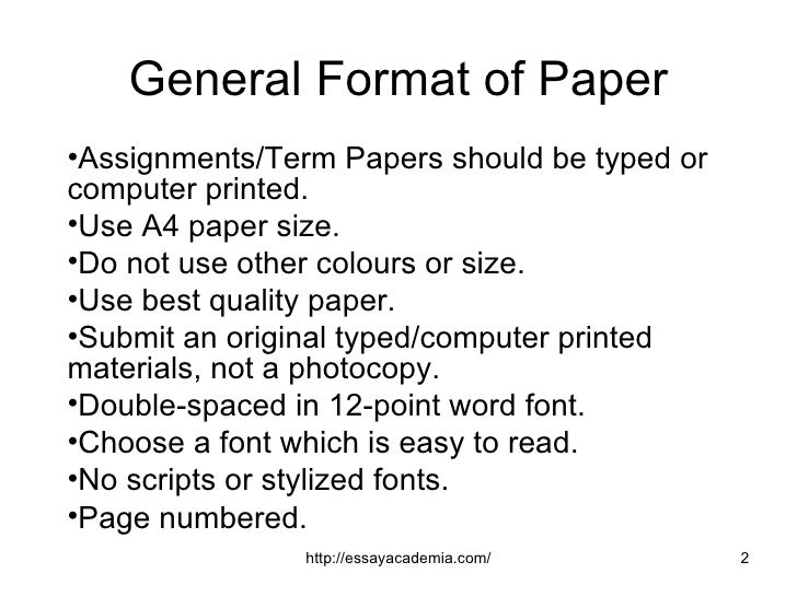 general term paper Get term paper writing help from freelance academic writers buy term papers from our reliable when term paper writing seems almost impossible for you, it is advisable to obtain custom term.