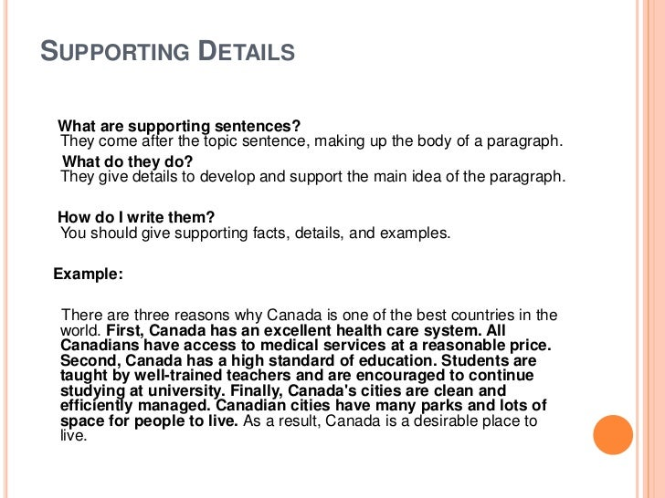 essay supporting points