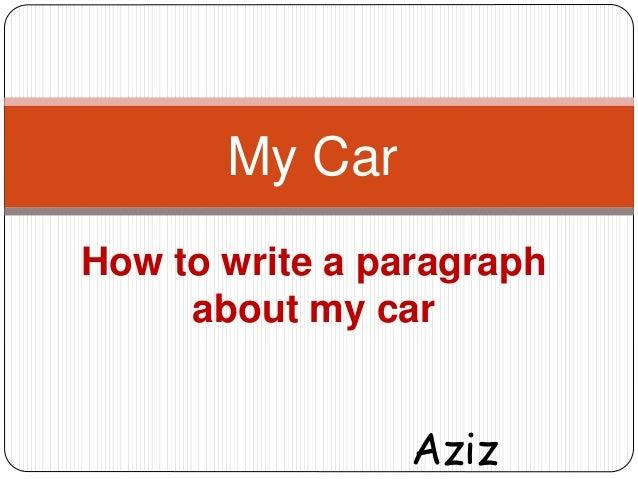 How do you write a paragraph?