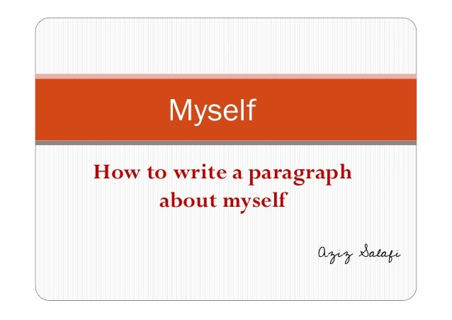 five paragraph essay telling about yourself