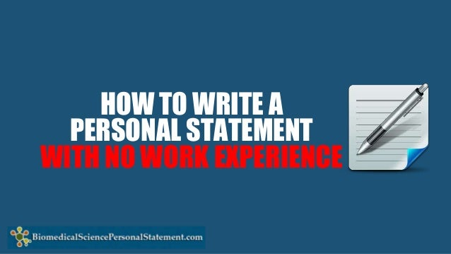how to write a personal statement for work experience