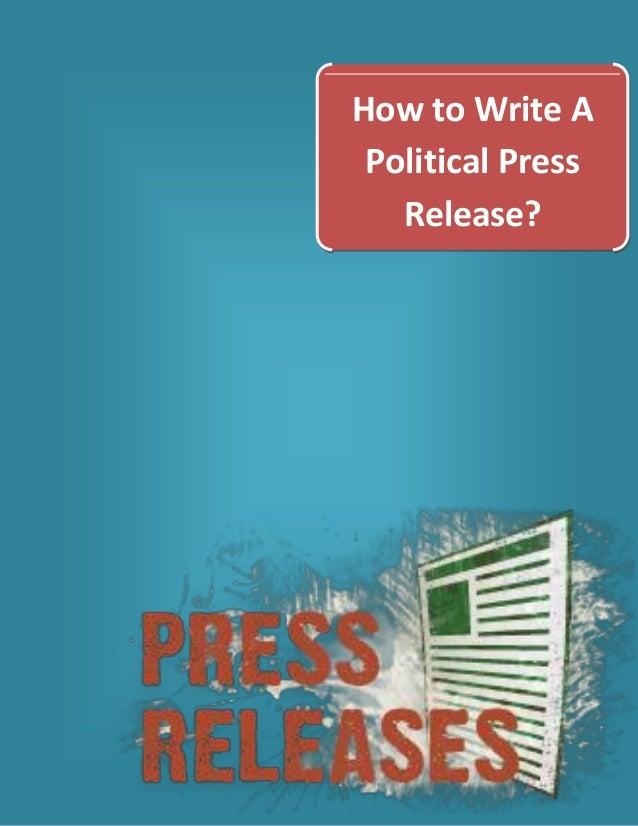 Write an Optimized Political Press Release