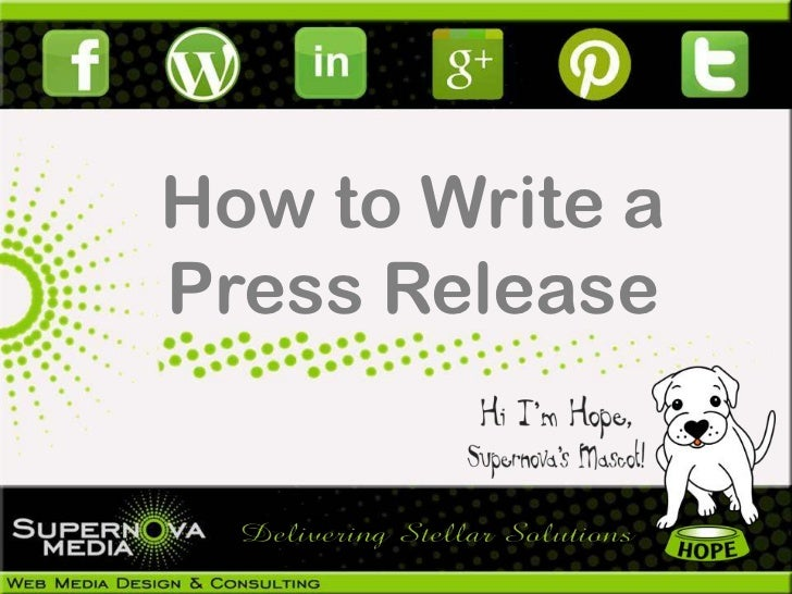 How to Write aPress Release