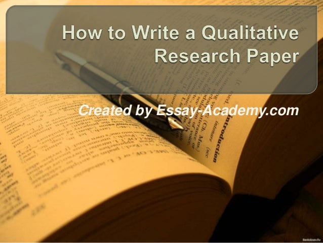 introduction qualitative research paper